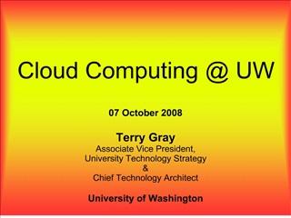 Cloud Computing  UW