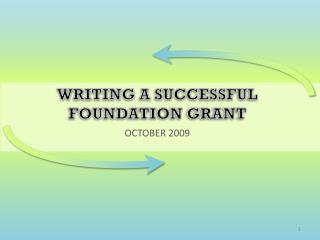 Writing A successful foundation grant