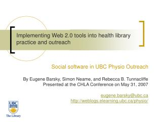Implementing Web 2.0 tools into health library practice and ...