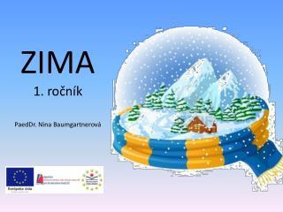 ZIMA 1. ročník PaedDr. Nina Baumgartnerová