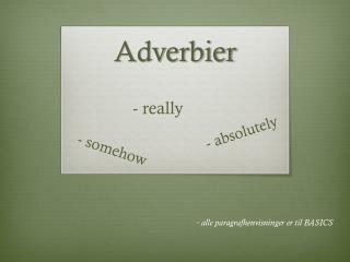 Adverbier