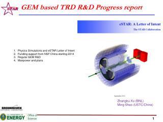 GEM based TRD R&D Progress report