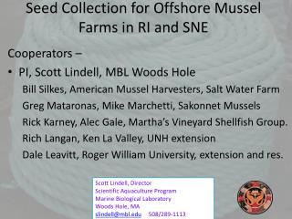 Seed Collection for Offshore Mussel Farms in RI and SNE