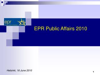 EPR Public Affairs 2010