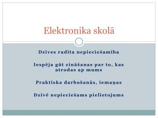 Elektronika skolā