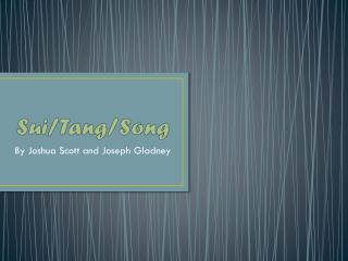 Sui/Tang/Song
