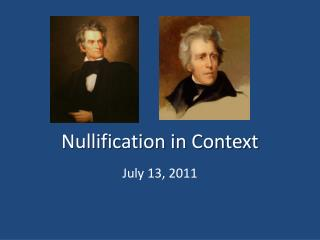 Nullification in Context