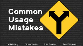 Common Usage Mistakes