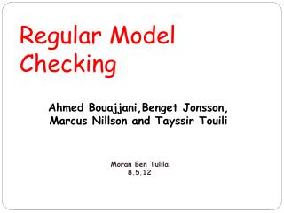 Regular Model Checking
