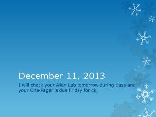 December 11, 2013
