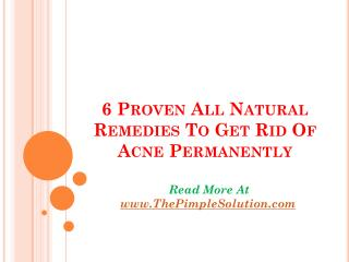 6 natural acne remedies that will get rid of acne
