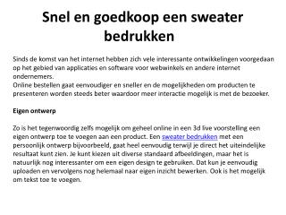 Sweater Bedrukken