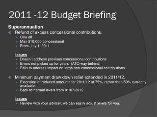 2011 -12 Budget Briefing