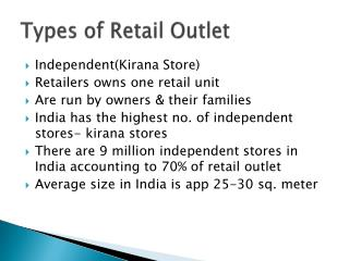 Types of Retail Outlet
