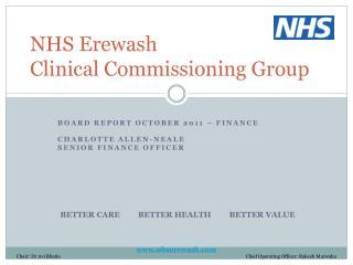 NHS Erewash  Clinical Commissioning Group