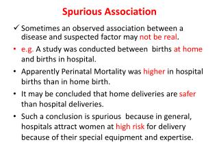 Spurious Association