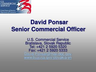 David Ponsar Senior Commercial Officer