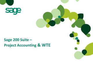 Sage 200 Suite – Project Accounting & WTE