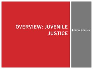 OVERVIEW: Juvenile Justice