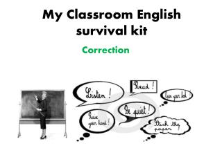 My Classroom  English  survival  kit