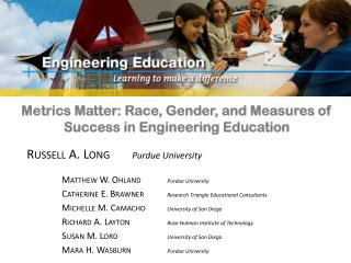 Metrics Matter: Race, Gender, and Measures of Success in Engineering Education