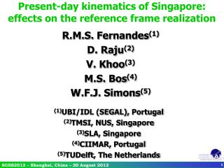 Present-day kinematics of Singapore: effects on the reference frame realization