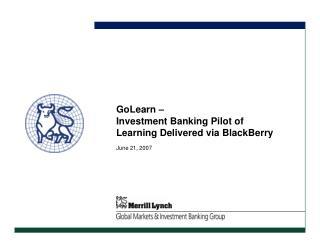 GoLearn at Merrill Lynch