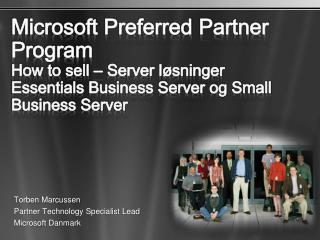 Torben Marcussen Partner Technology Specialist Lead Microsoft  Danmark