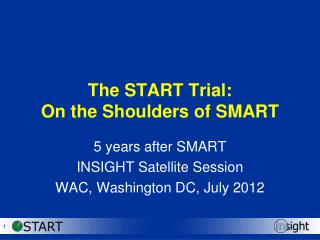 The START Trial:  On the Shoulders of SMART