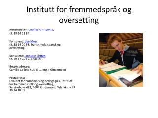 Institutt for fremmedspr�k og oversetting