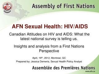 AFN Sexual Health: HIV/AIDS