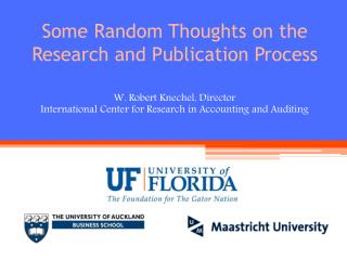 Some Random Thoughts on the Research and Publication Process