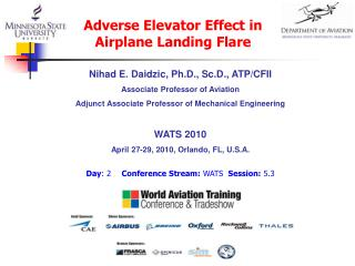 Nihad E. Daidzic, Ph.D., Sc.D., ATP/CFII Associate Professor of Aviation