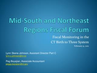 Mid-South and Northeast Regions Fiscal Forum