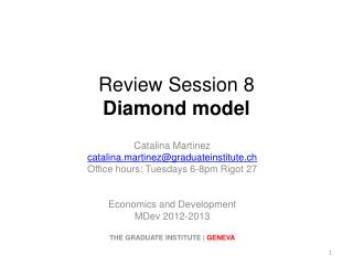 Review Session  8 Diamond model