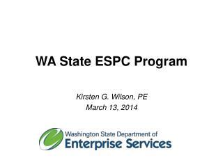 WA State ESPC Program