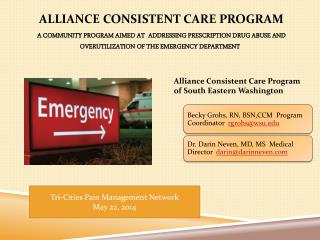 Alliance Consistent Care Program of South Eastern Washington
