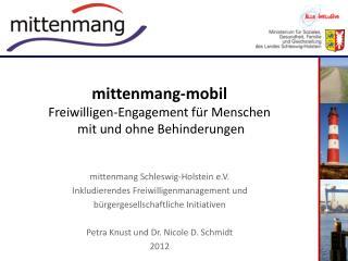 mittenmang-mobil Freiwilligen-Engagement f�r Menschen  mit und ohne Behinderungen