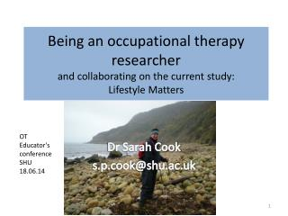 Dr Sarah Cook s.p.cook@shu.ac.uk