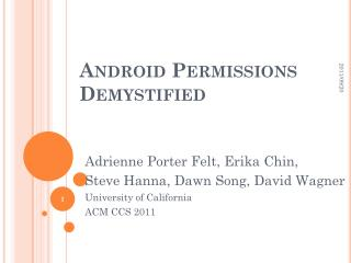 Android Permissions Demystified
