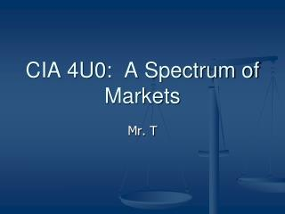 CIA 4U0:   A Spectrum of Markets