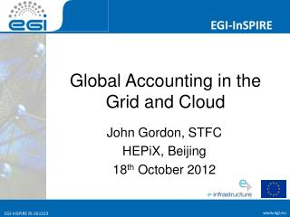 Global Accounting in the Grid and Cloud