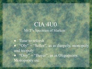CIA 4U0