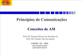 Princ pios de Comunica  es    Conceitos de AM