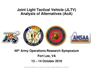 Joint  Light Tactical Vehicle ( JLTV) Analysis of Alternatives (AoA)