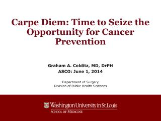 Carpe Diem: Time to Seize the Opportunity for Cancer Prevention