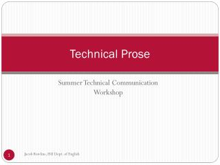 Technical Prose