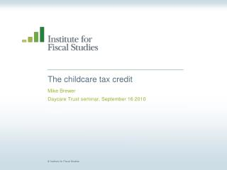 The childcare tax credit
