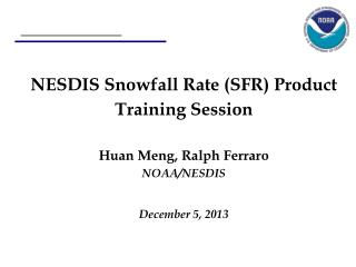 AMSU/MHS Snowfall Rate Product