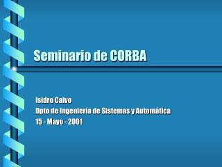 Seminario de CORBA